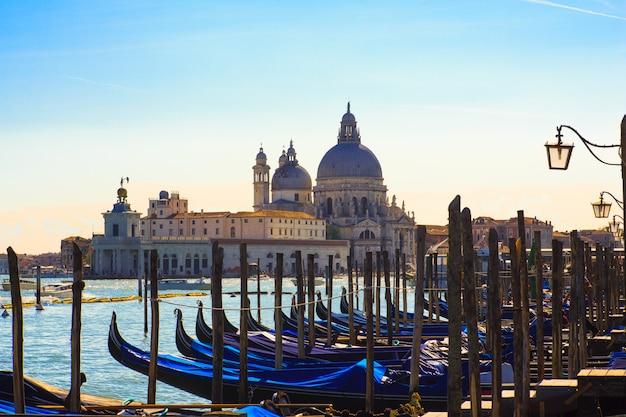 Gôndolas, paisagem de veneza