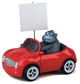 Gorila divertido - ilustração 3d