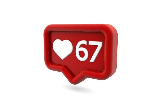 Gosta de notificação para mídias sociais isoladas