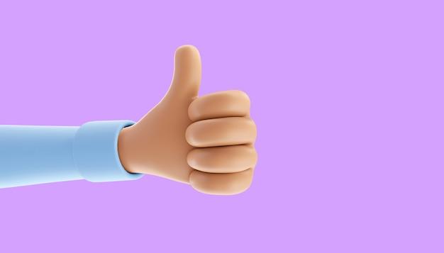 Gosto criativo, gosto, amor nas redes sociais. gestos com as mãos. ilustração 3d
