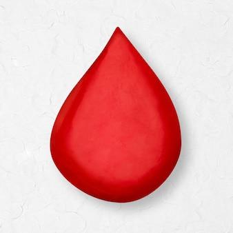Gota de sangue de doação de argila de plasticina elemento diy