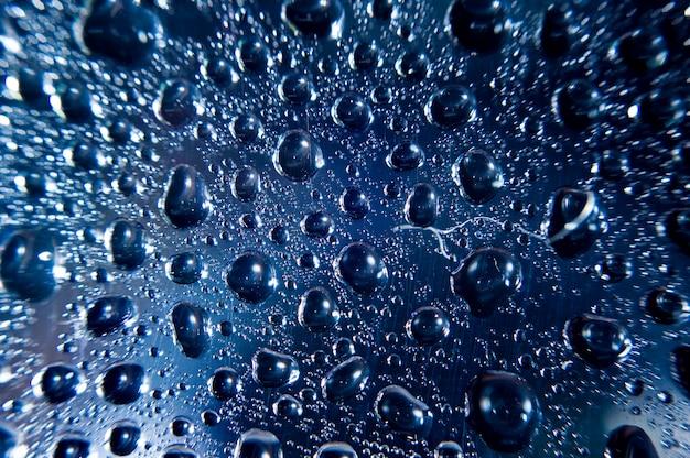 Gotas de água na superfície