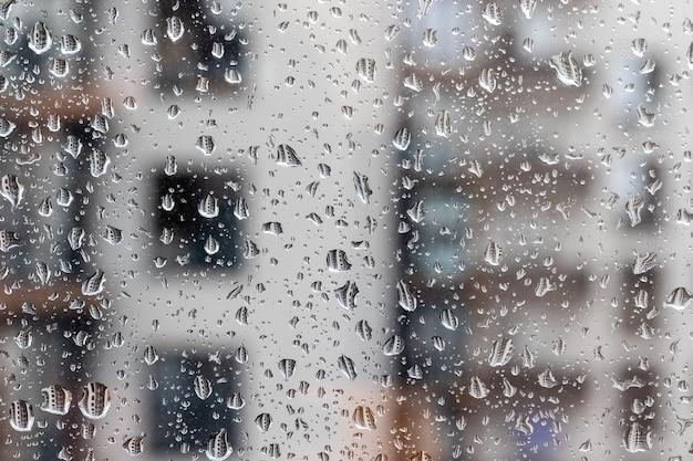 Gotas de água na vidraça