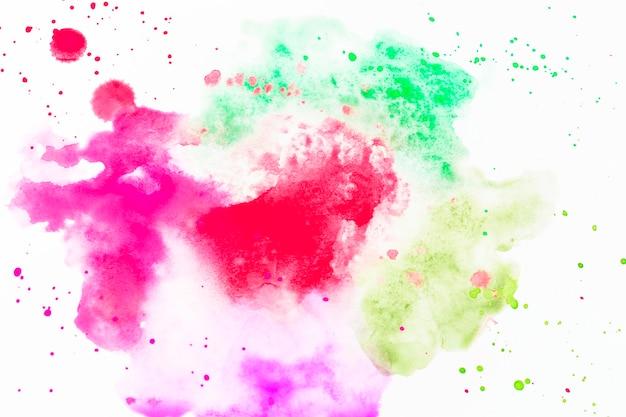 Gotas de aguarela colorida