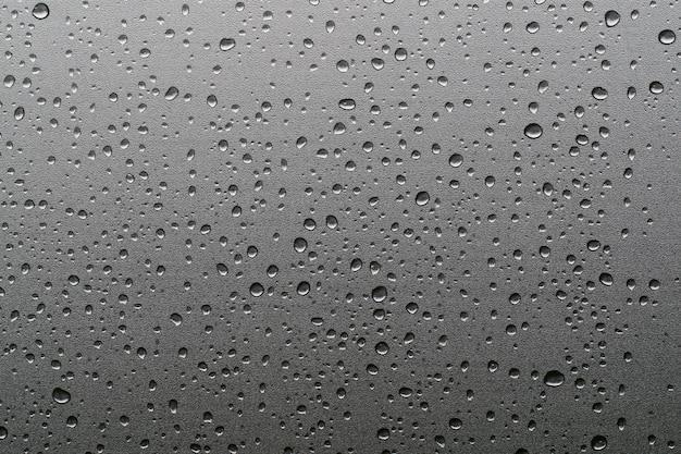 Gotas de chuva em vidros de janela