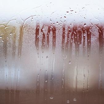 Gotas de chuva na janela