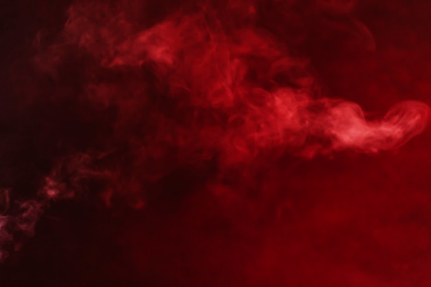 Gotas de fumaça vermelha