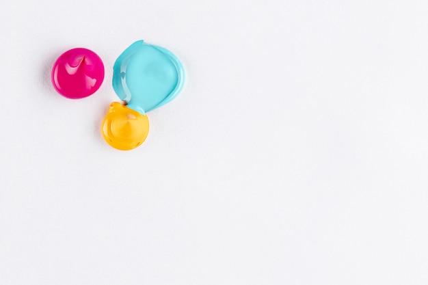 Gotas de tinta com espaço de cor