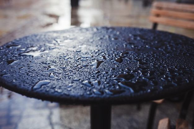 Gotas em cima da mesa