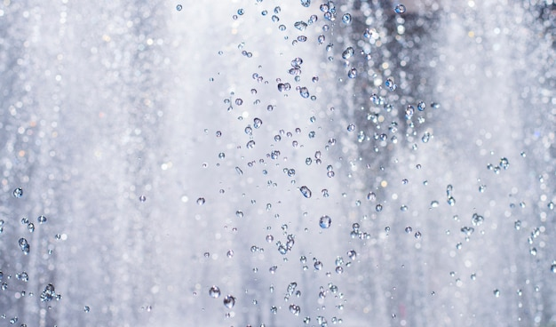 Gotículas de água no ar