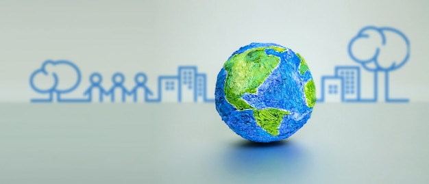 Governança esg, ambiental, social e corporativa. energia verde, recursos renováveis e sustentáveis. conceito de cuidados de ecologia.