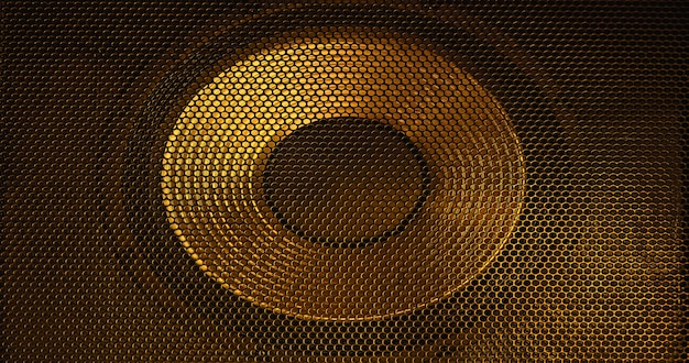Grade abstrata dourada como pano de fundo.