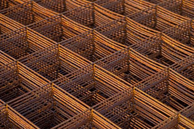 Grade de aço para construção em obra