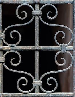 Grade de ferro antigo padrão