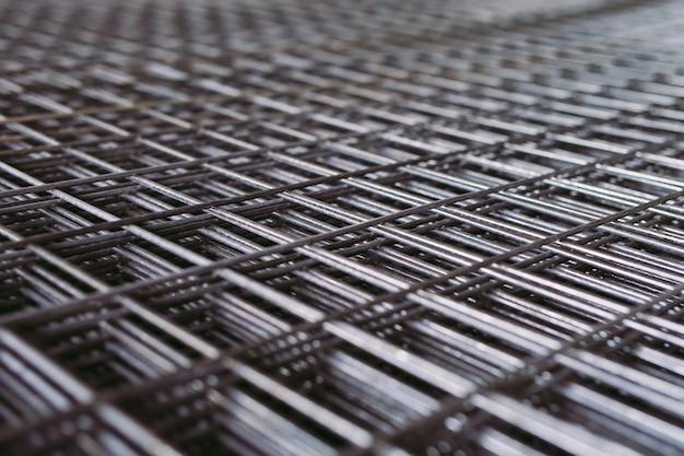 Grade de metal. produção industrial pesada. planta de laminação de metal