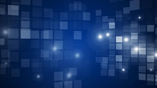 Grade de retângulo piscando azul abstrato fluindo fundo de perspectiva