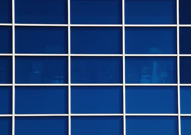 Grade de vidro em hd de fundo de prédio de escritórios