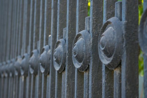 Grade velha do parque do metal, foco seletivo
