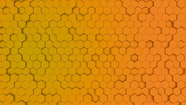 Gradien vermelho e laranja pilha hexagonal, textura de pente. luz de fundo