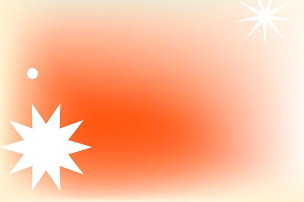 Gradiente abstrato de memphis laranja com formas geométricas