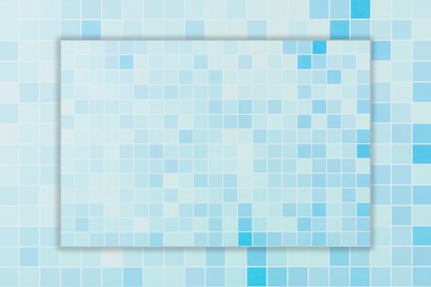 Gradiente da parede azul abstrata da telha da grade.