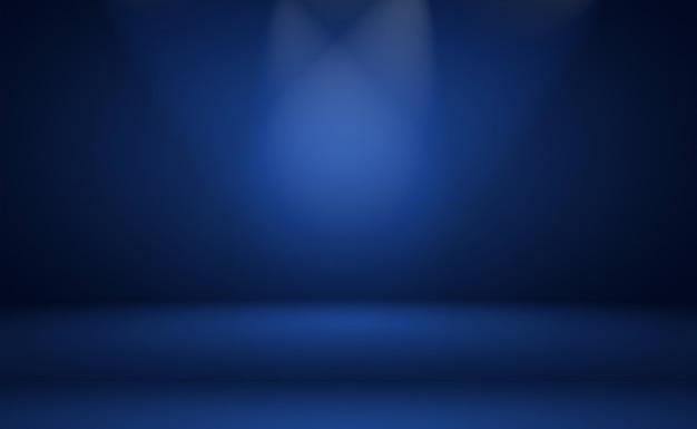 Gradiente de luxo abstrato fundo azul. azul escuro suave com vinheta preta