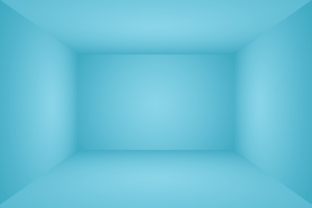 Gradiente de luxo abstrato fundo azul. sala de estúdio 3d.