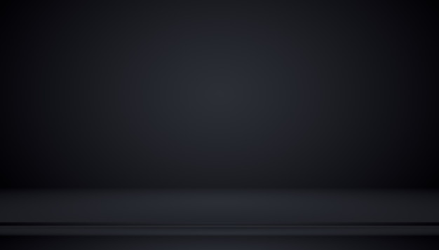Gradiente de luxo abstrato preto com fundo de vinheta de borda cenário de estúdio - bem usar como plano de fundo, plano de fundo do estúdio, quadro de gradiente.
