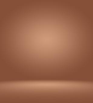 Gradiente de marrom escuro e marrom escuro de luxo abstrato com vinheta marrom de borda, cenário de estúdio - bem usar como plano de fundo de pano de fundo, placa, plano de fundo do estúdio.