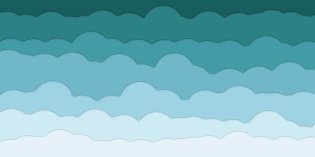 Gradiente em camadas de nuvens verdes forma gradiente de tom verde