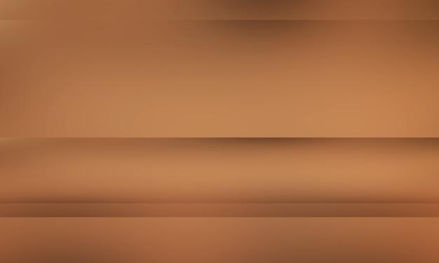 Gradiente marrom abstrato bem usado como plano de fundo para a exibição do produto.