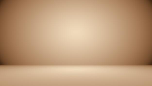 Gradiente marrom abstrato bem usado como plano de fundo para a exibição do produto