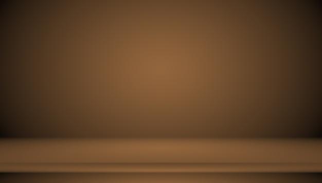 Gradiente marrom abstrato bem usado como plano de fundo para exposição do produto.