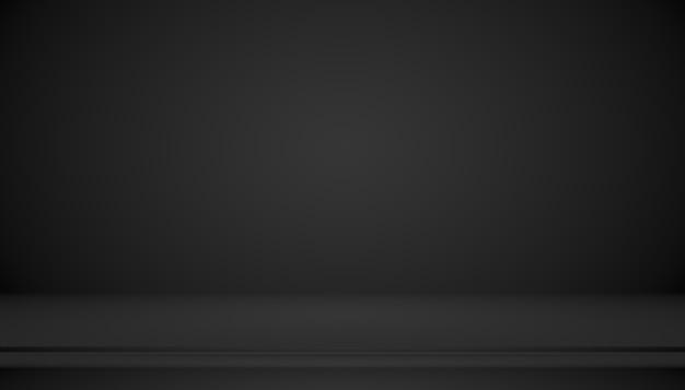 Gradiente preto de luxo abstrato com fundo de vinheta de borda cenário de estúdio - usaremos como plano de fundo, plano de fundo do estúdio, quadro de gradiente