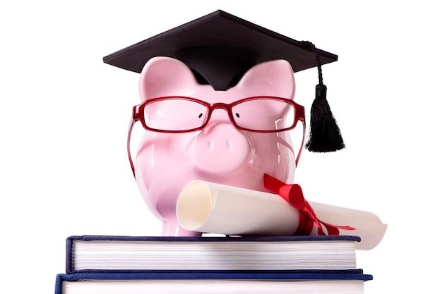 Graduado piggy bank