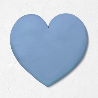 Gráfico bonito de argila seca e coração azul para crianças