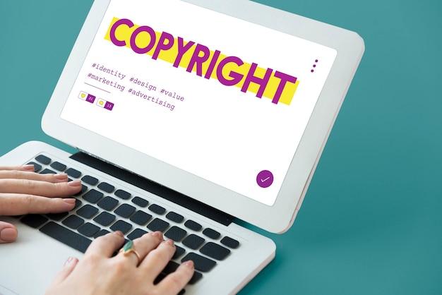 Gráfico de copyright de marca registrada de patente de design de produto