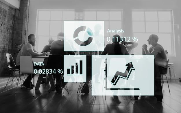 Gráfico de crescimento de sucesso melhoria de desenvolvimento de negócios