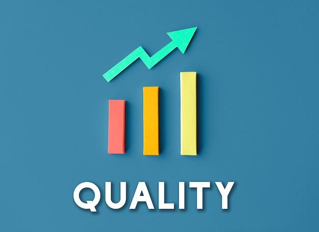 Gráfico de crescimento, desenvolvimento, melhoria, lucro, conceito de sucesso