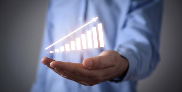 Gráfico de crescimento financeiro. conceito de investimento
