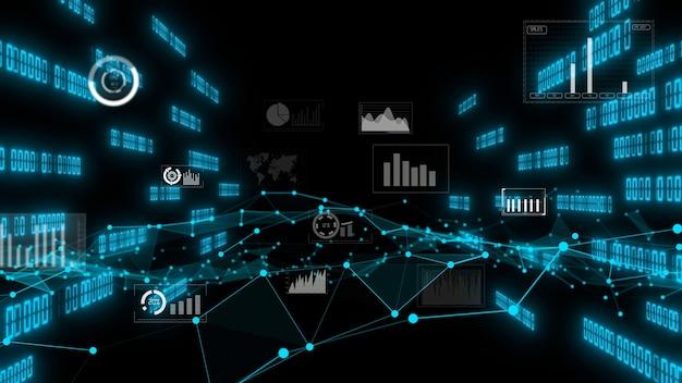 Gráfico de dados de negócios e números financeiros