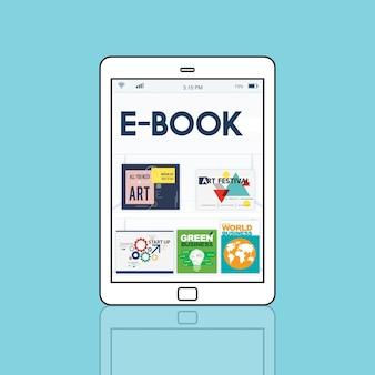Gráfico de download da publicação da coleção da revista digital de e-book