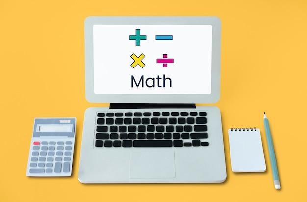 Gráfico de educação de cálculo de fórmula matemática