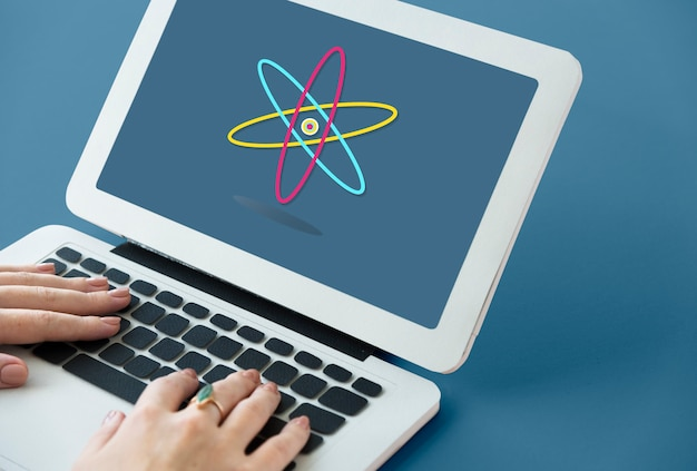Gráfico de experimento de estudo de ciência da vida da molécula atômica