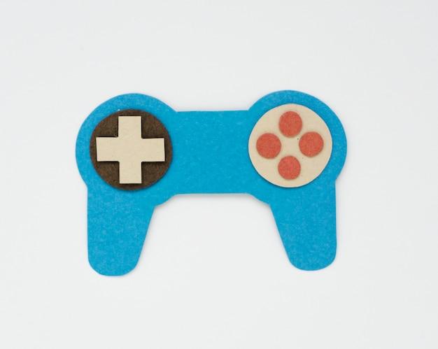 Gráfico de ícone de controlador de hipster de jogo