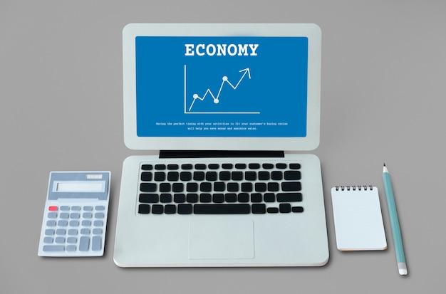 Gráfico de investimento econômico da bolsa de valores