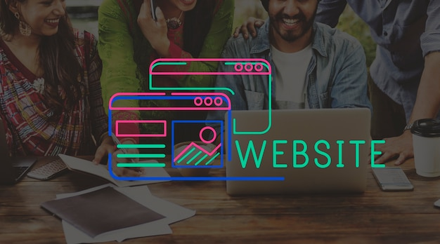 Gráfico de layout de conteúdo de design de site