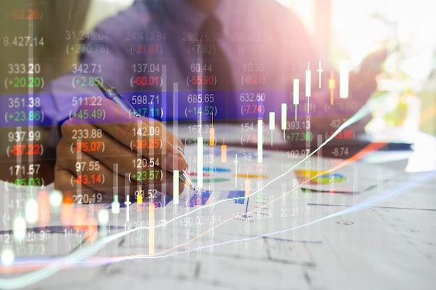 Gráfico de negociação forex para o conceito de investimento financeiro