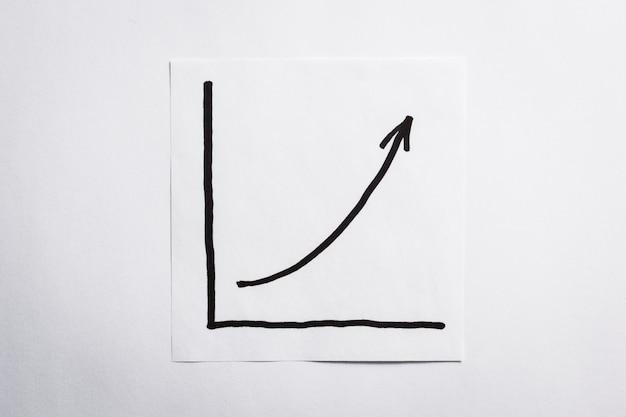 Gráfico de negócios na folha em branco
