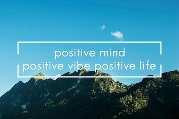 Gráfico de palavras positividade, motivação de vida, paixão, inspiração